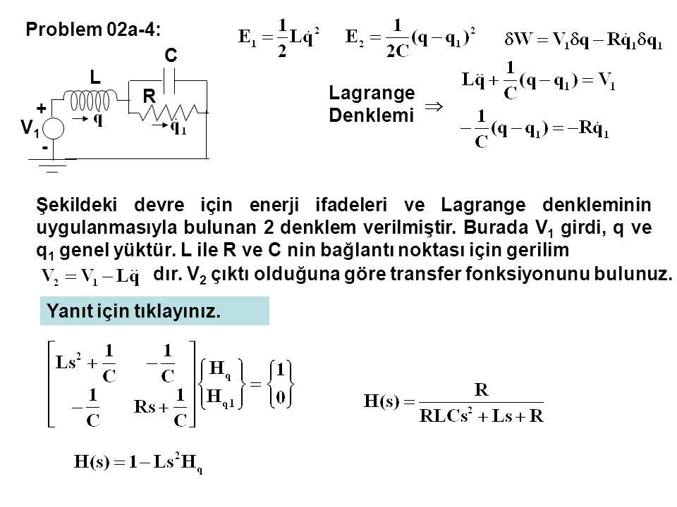 Problem 02a-4: V1. + - L. C. R. Lagrange Denklemi.