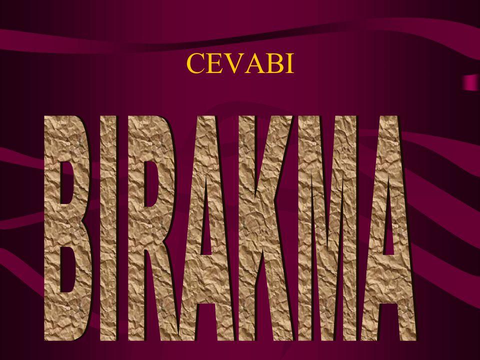 CEVABI BIRAKMA