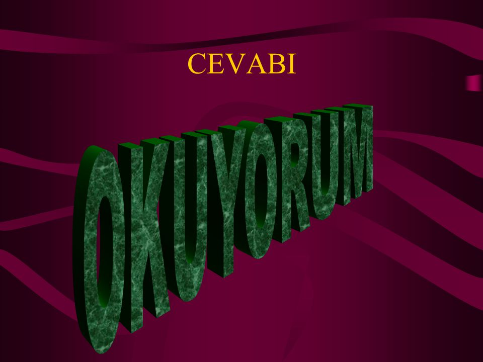 CEVABI OKUYORUM
