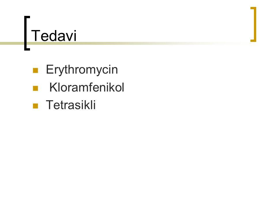 Tedavi Erythromycin Kloramfenikol Tetrasikli