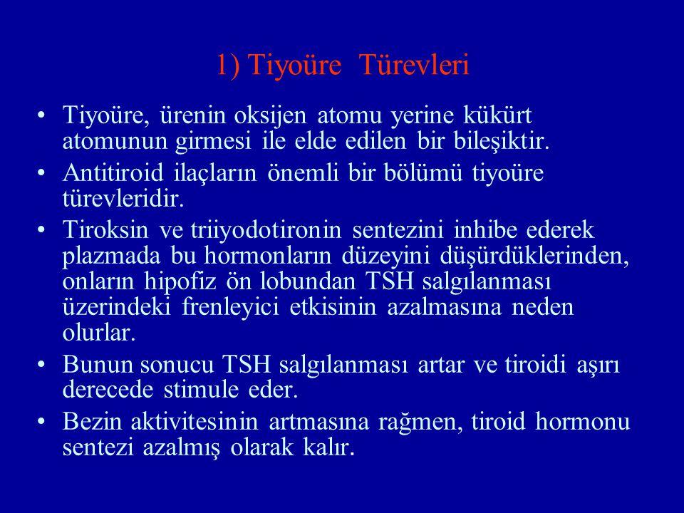 1) Tiyoüre Türevleri Tiyoüre, ürenin oksijen atomu yerine kükürt atomunun girmesi ile elde edilen bir bileşiktir.