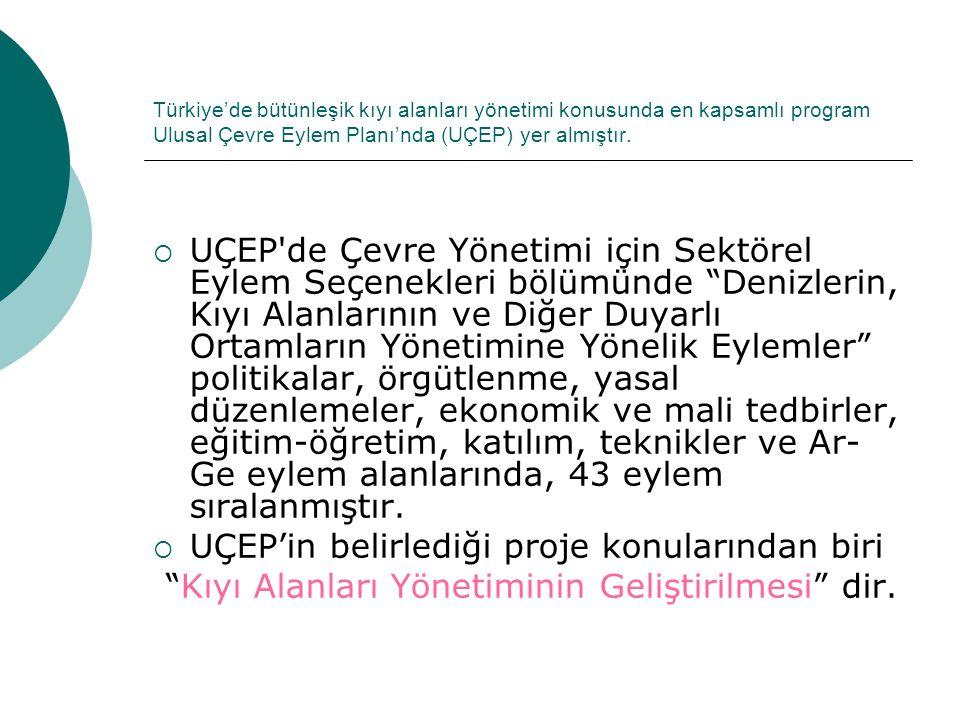 UÇEP'in belirlediği proje konularından biri