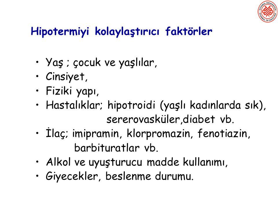 Hipotermiyi kolaylaştırıcı faktörler