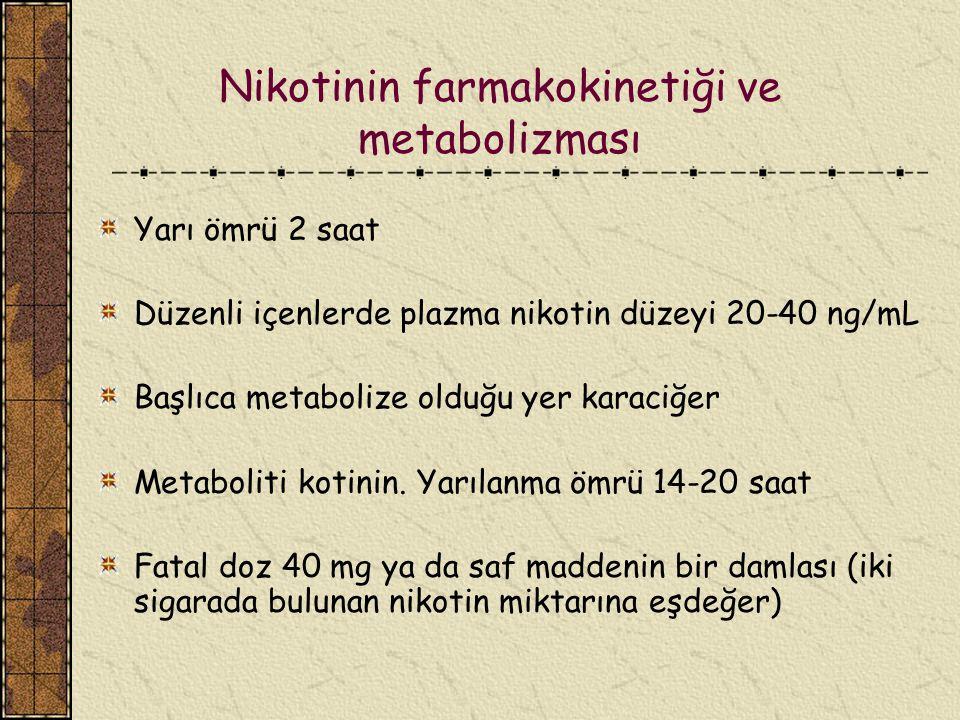 Nikotinin farmakokinetiği ve metabolizması