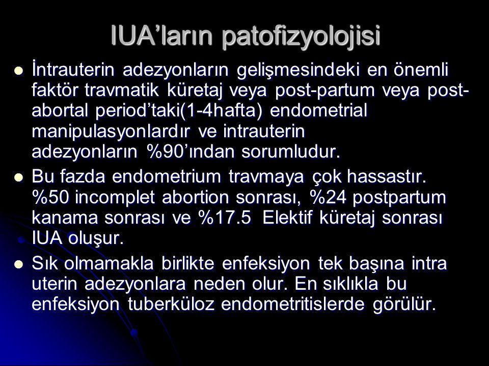 IUA'ların patofizyolojisi