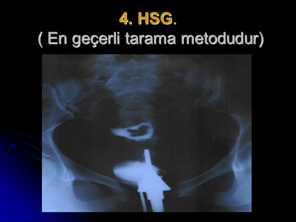 4. HSG. ( En geçerli tarama metodudur)