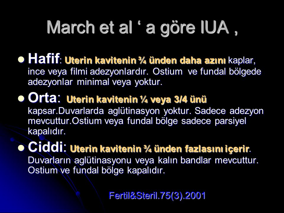 March et al ' a göre IUA ,