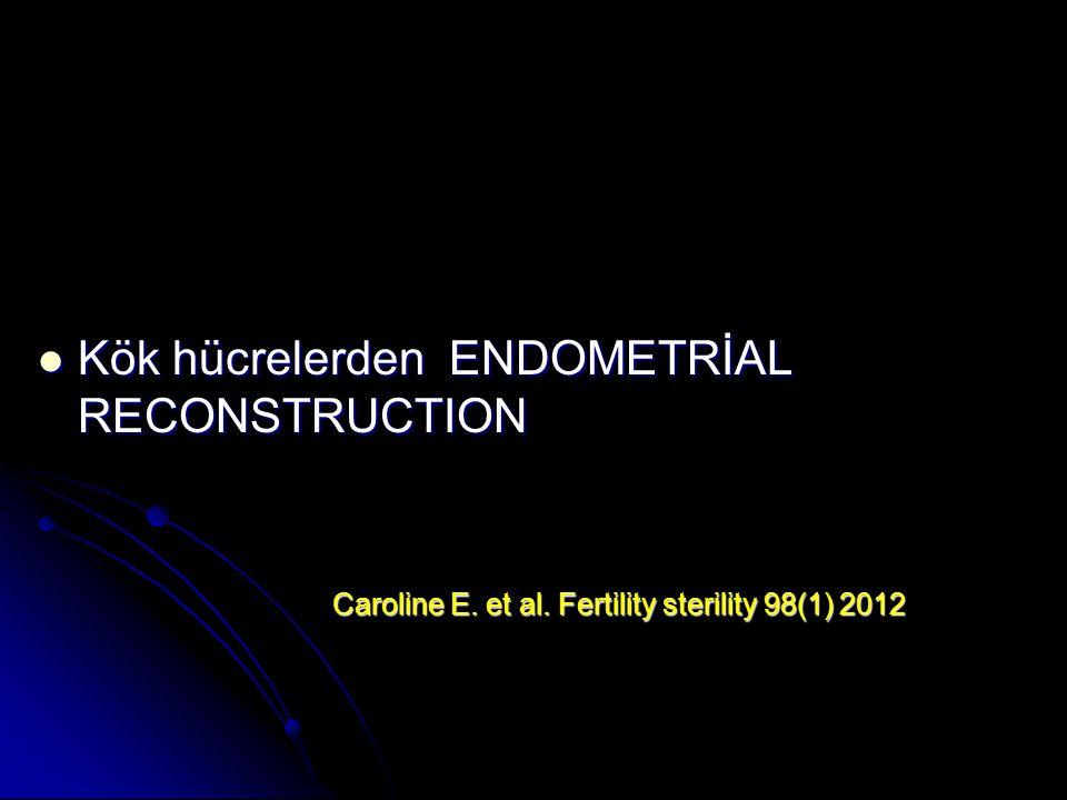 Kök hücrelerden ENDOMETRİAL RECONSTRUCTION