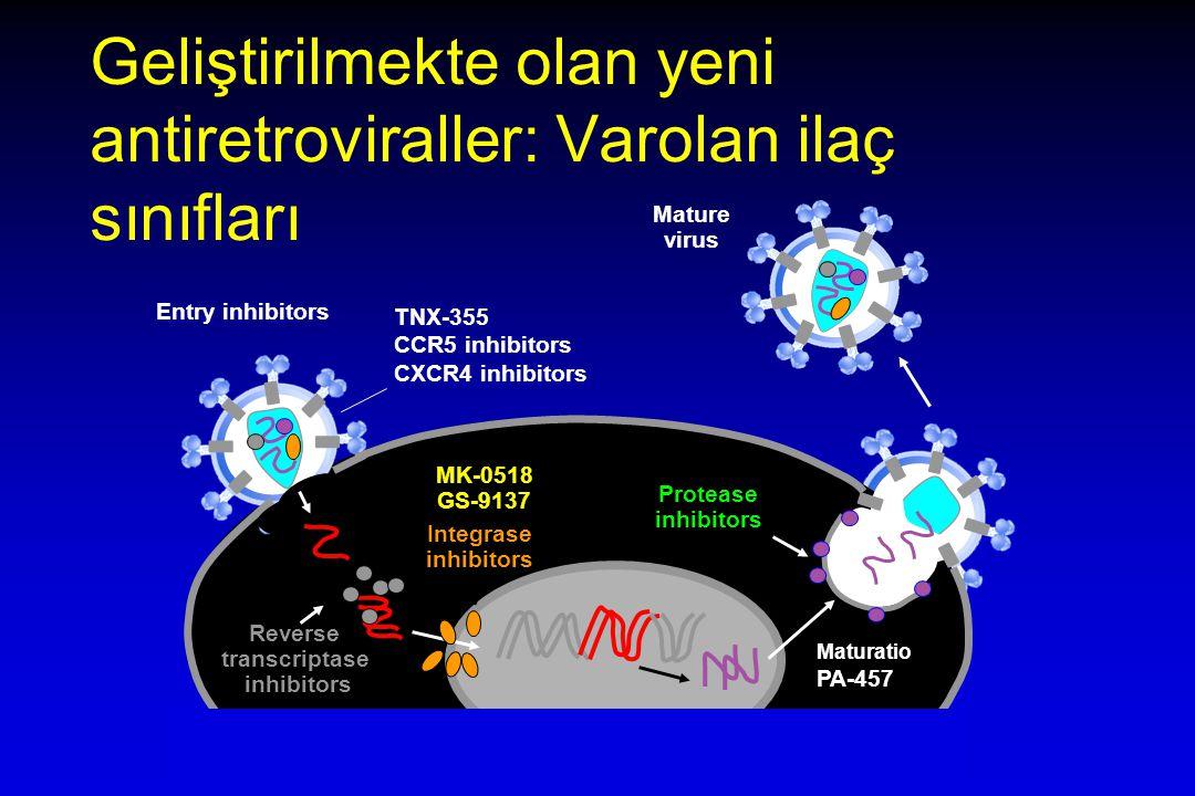 Geliştirilmekte olan yeni antiretroviraller: Varolan ilaç sınıfları