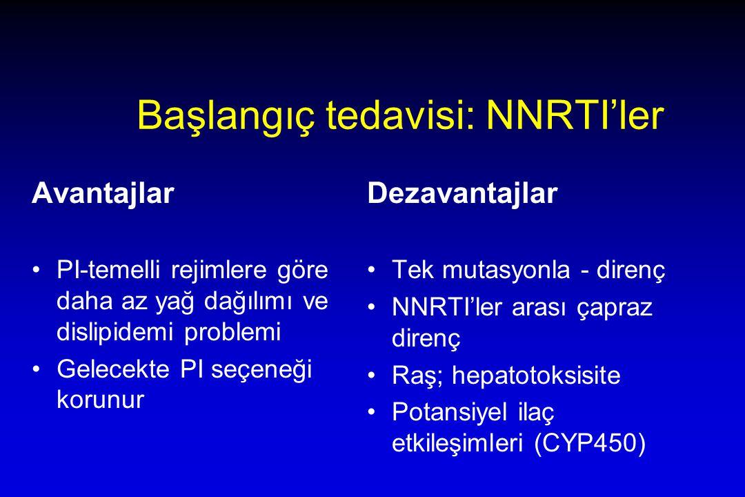 Başlangıç tedavisi: NNRTI'ler
