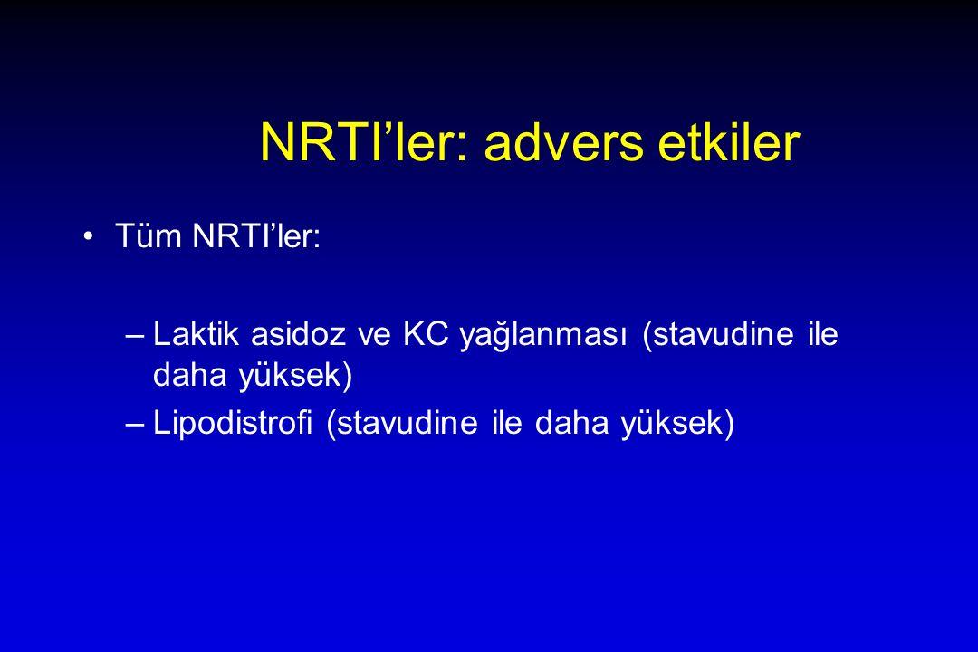 NRTI'ler: advers etkiler