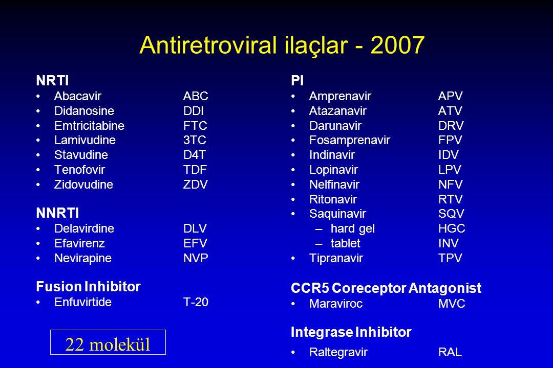 Antiretroviral ilaçlar - 2007