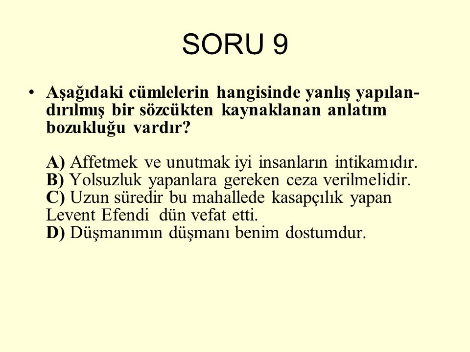 SORU 9
