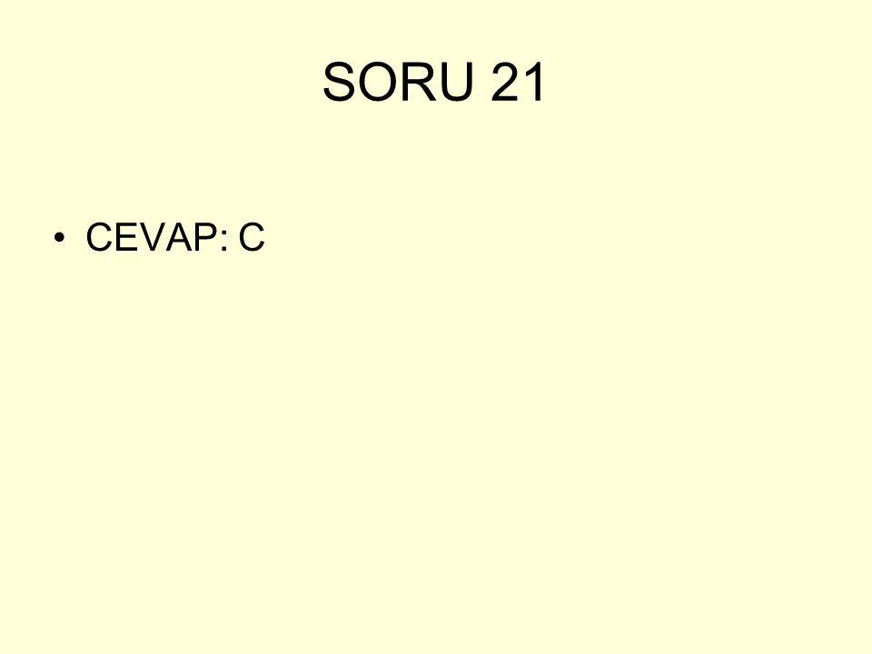 SORU 21 CEVAP: C