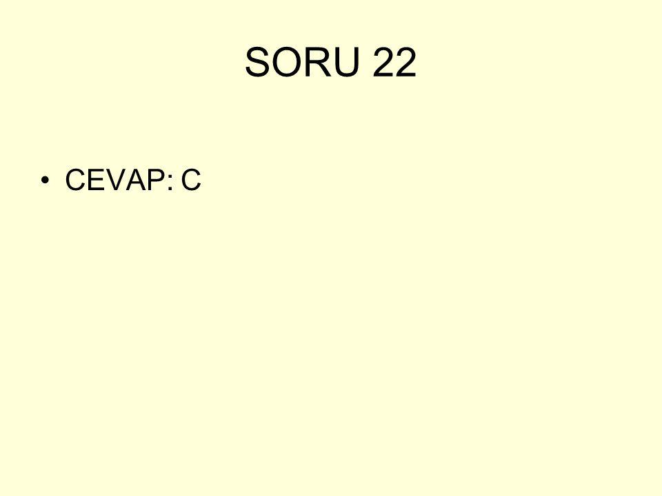 SORU 22 CEVAP: C