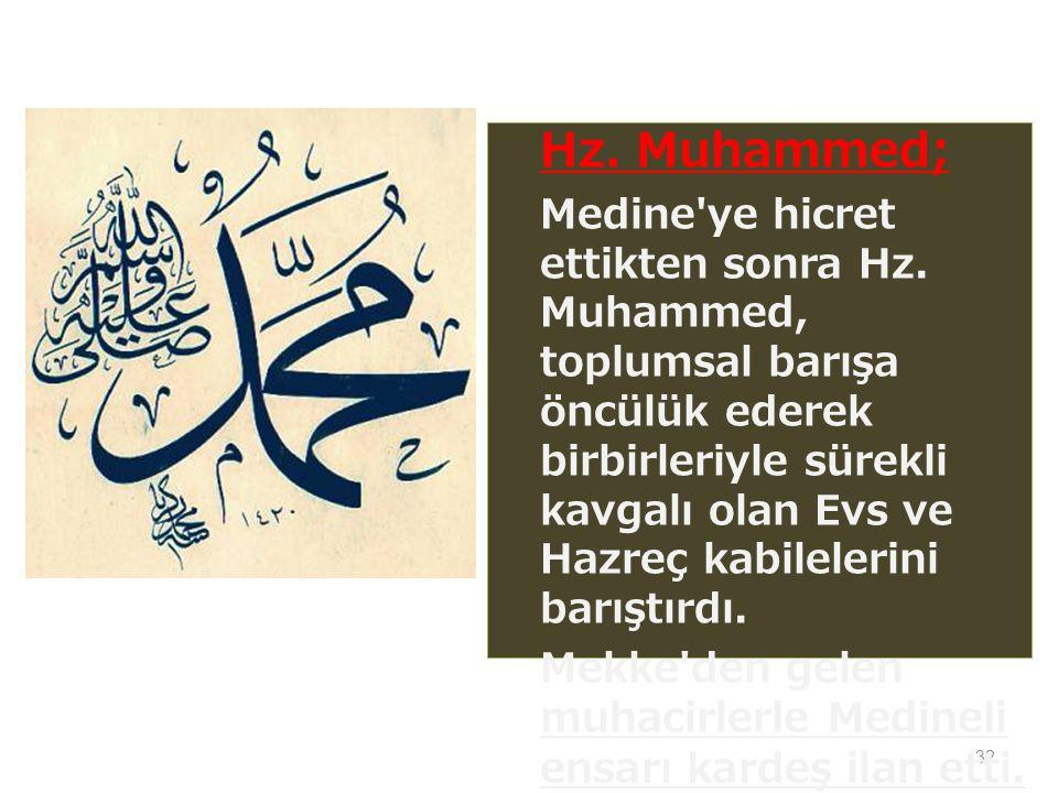 Hz. Muhammed;
