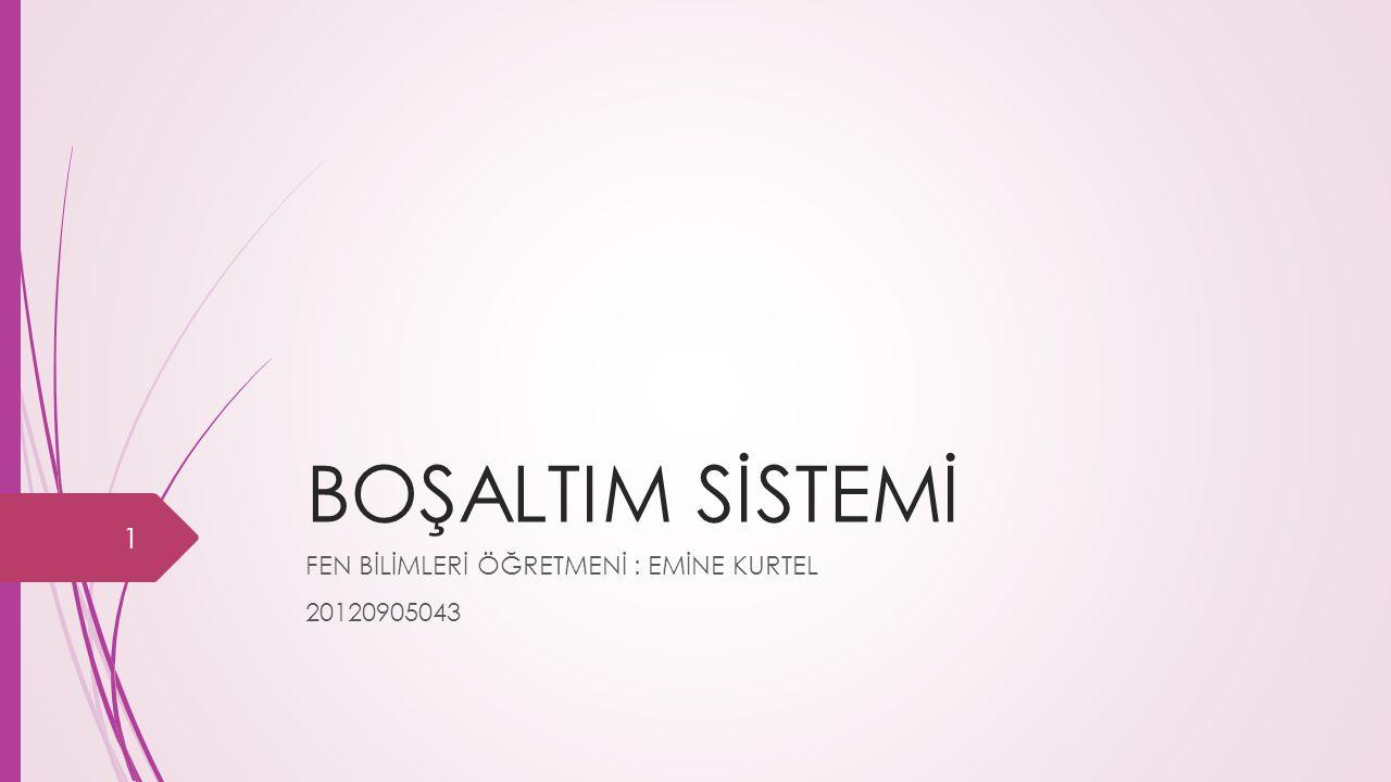 FEN BİLİMLERİ ÖĞRETMENİ : EMİNE KURTEL 20120905043
