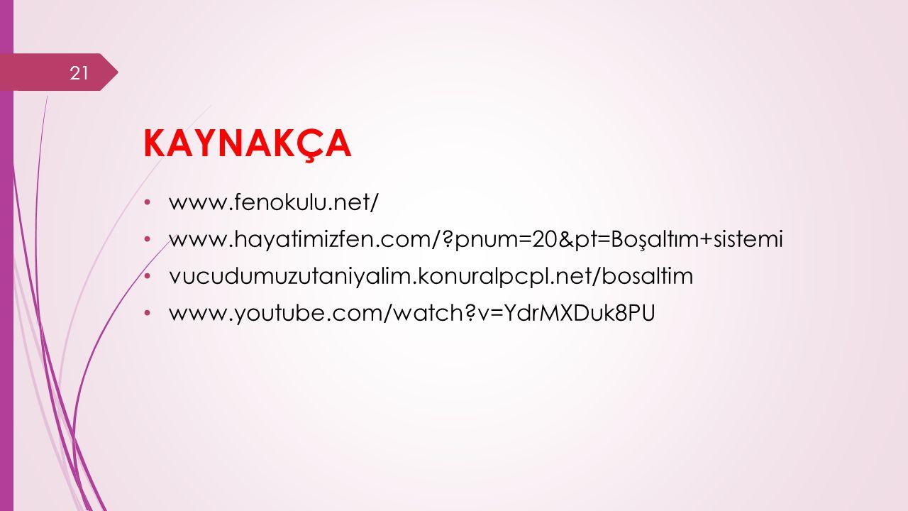 KAYNAKÇA www.fenokulu.net/