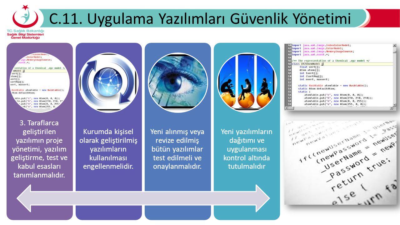 C.11. Uygulama Yazılımları Güvenlik Yönetimi