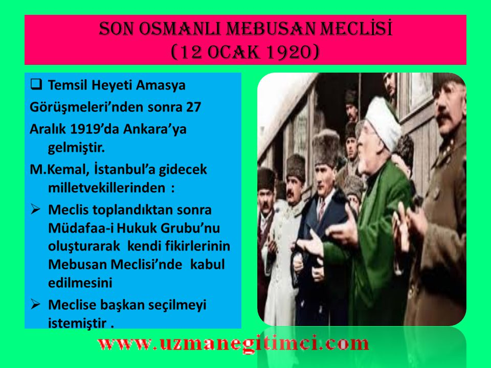 SON OSMANLI MEBUSAN MECLİSİ (12 OCAK 1920)
