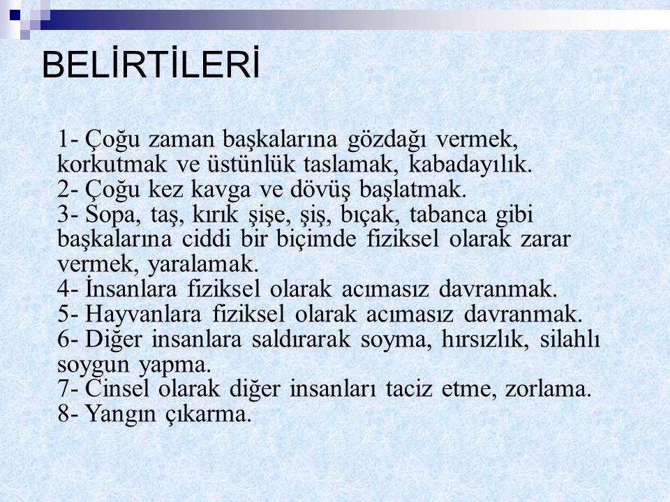 BELİRTİLERİ