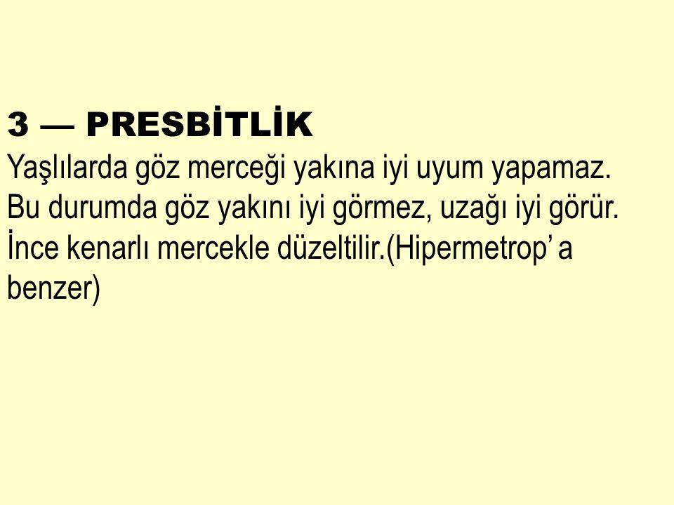 3 — PRESBİTLİK