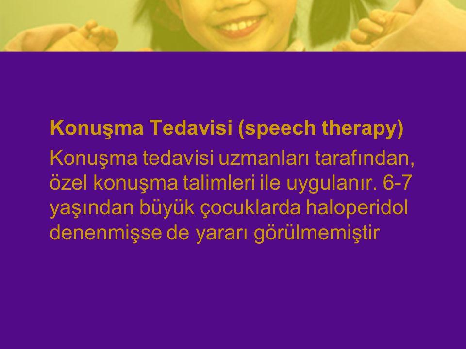 Konuşma Tedavisi (speech therapy)