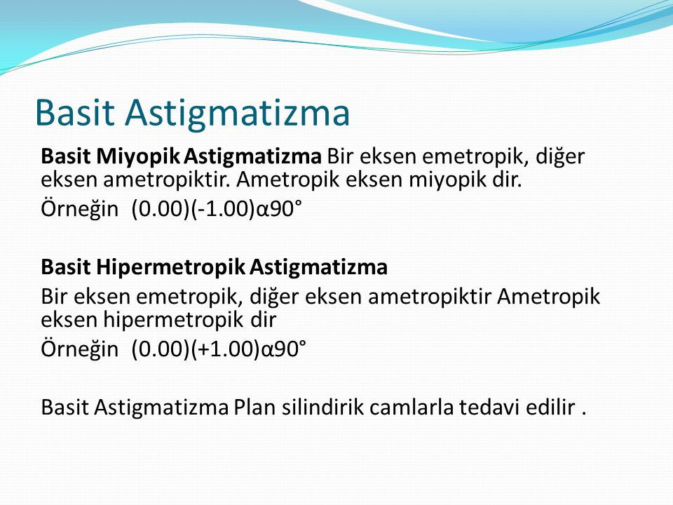 Basit Astigmatizma