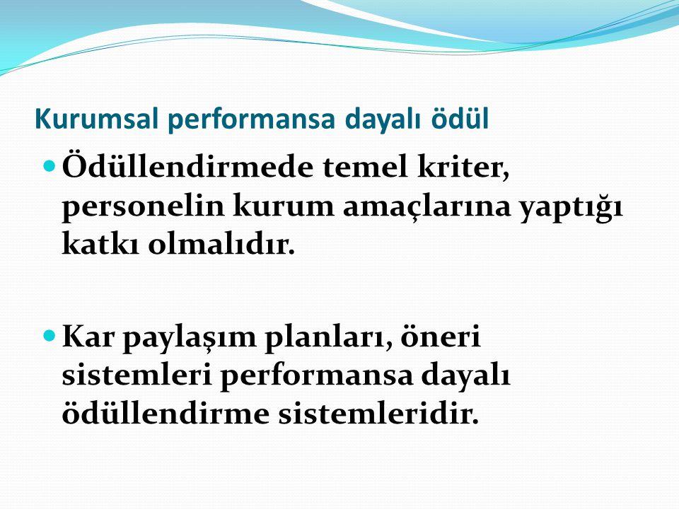 Kurumsal performansa dayalı ödül