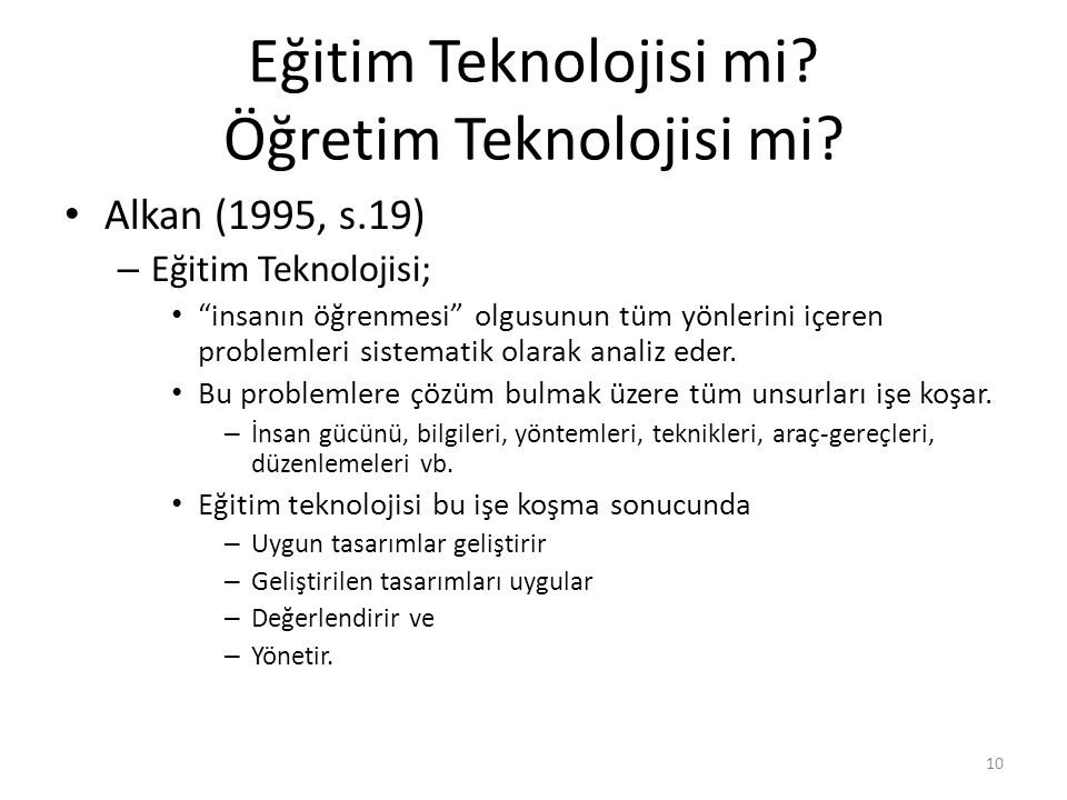 Eğitim Teknolojisi mi Öğretim Teknolojisi mi