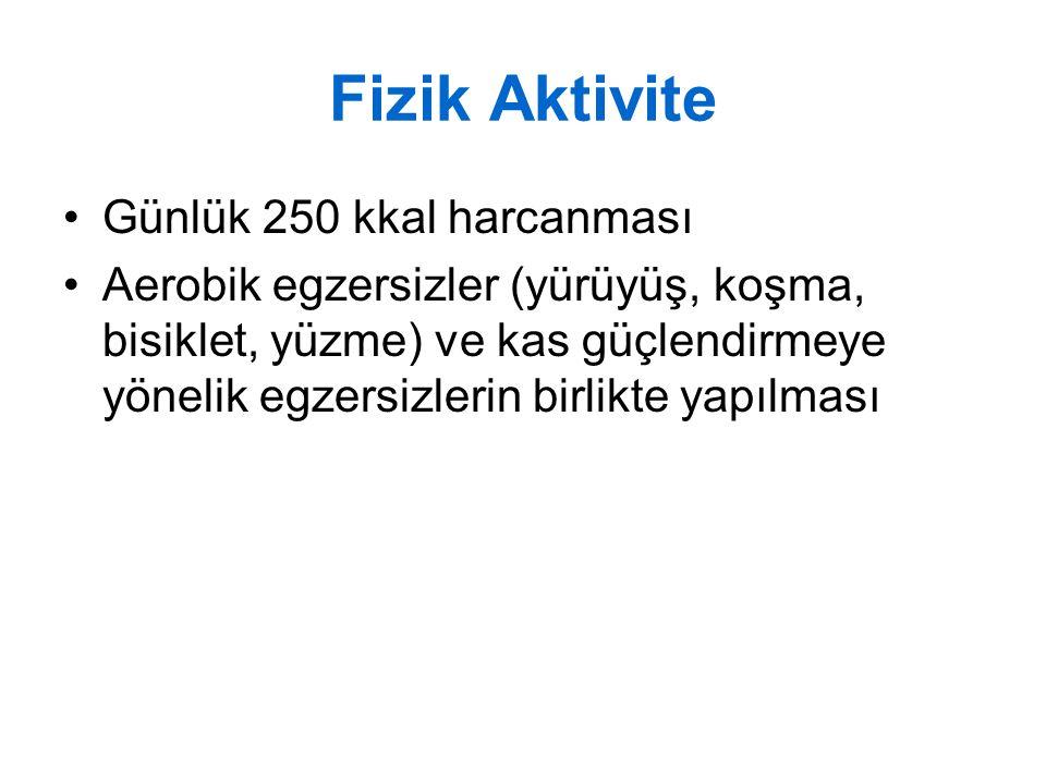 Fizik Aktivite Günlük 250 kkal harcanması