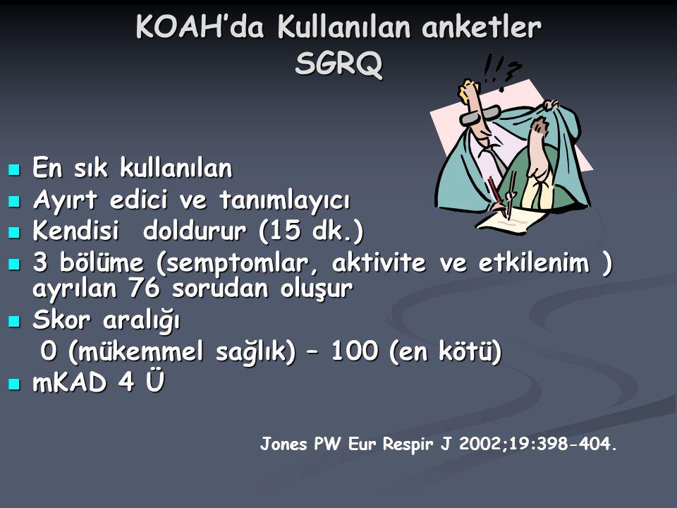 KOAH'da Kullanılan anketler SGRQ
