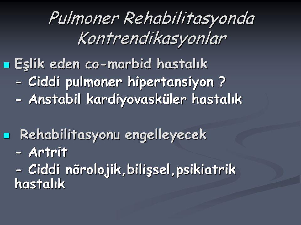 Pulmoner Rehabilitasyonda Kontrendikasyonlar