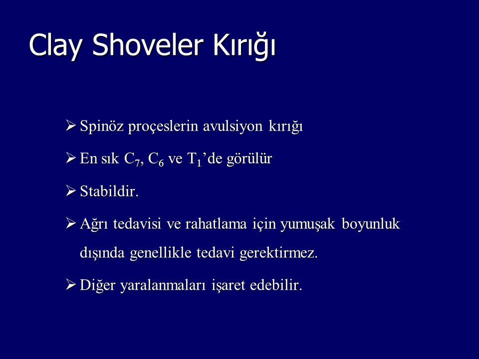 Clay Shoveler Kırığı Spinöz proçeslerin avulsiyon kırığı