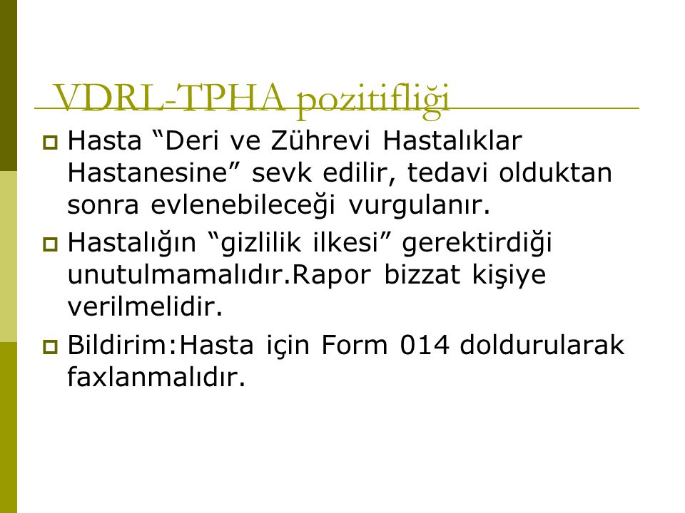 VDRL-TPHA pozitifliği