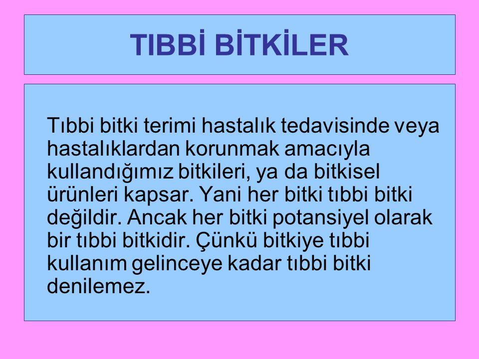 TIBBİ BİTKİLER
