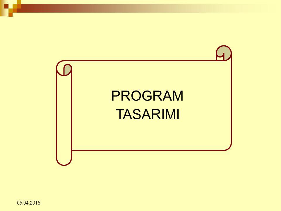 PROGRAM TASARIMI 09.04.2017