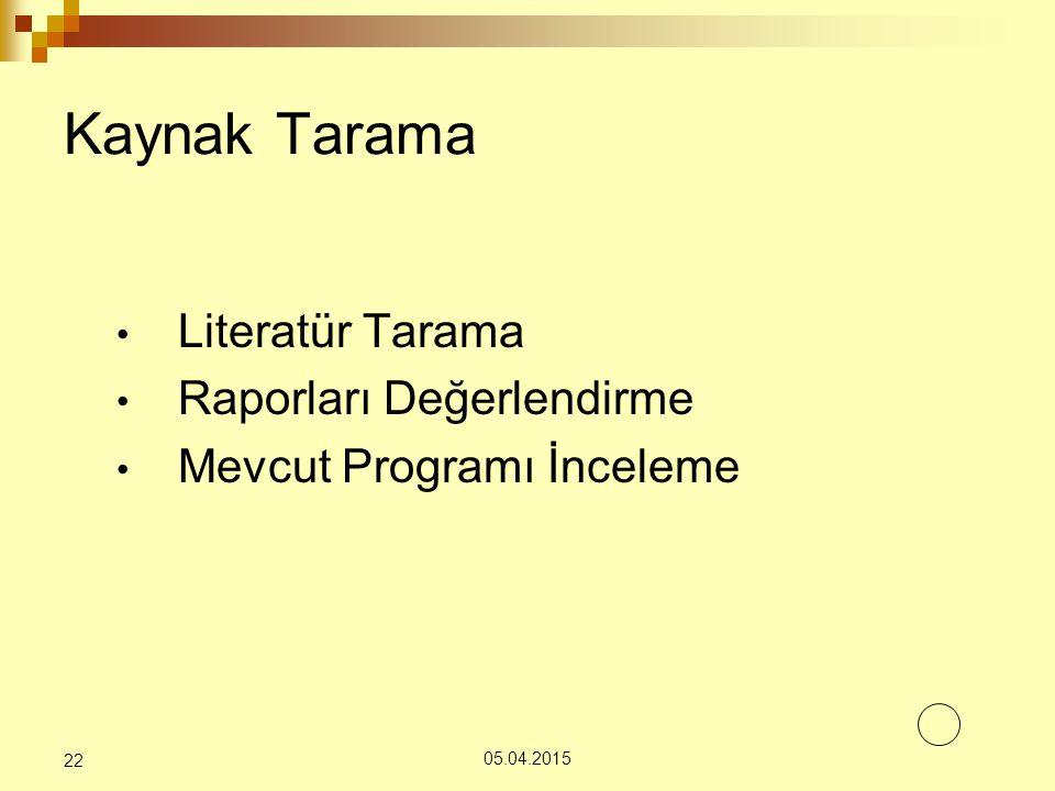 Kaynak Tarama Literatür Tarama Raporları Değerlendirme