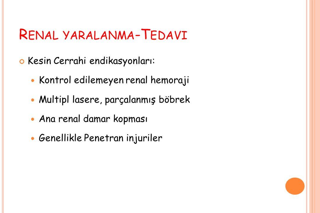Renal yaralanma-Tedavi