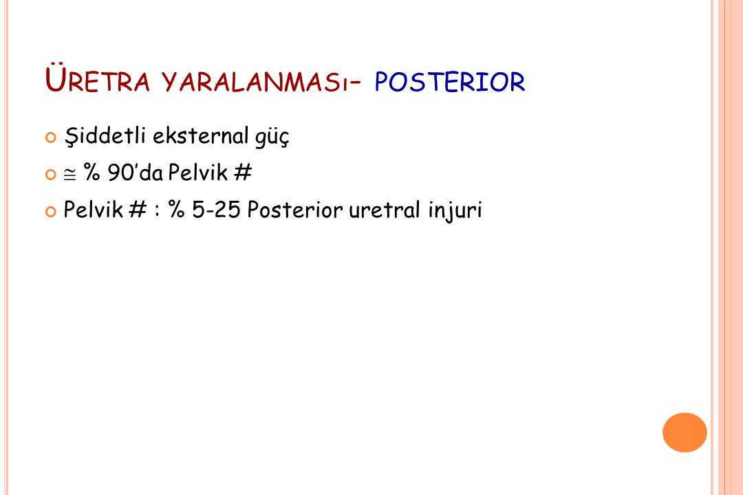 Üretra yaralanması- posterior