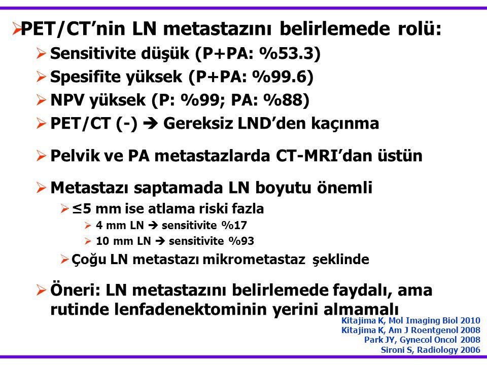 PET/CT'nin LN metastazını belirlemede rolü: