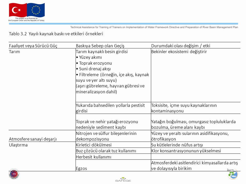 Tablo 3.2 Yayılı kaynak baskı ve etkileri örnekleri
