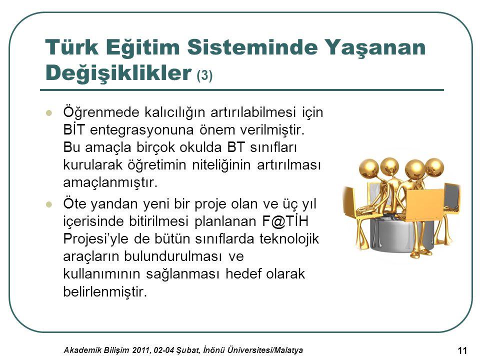 Türk Eğitim Sisteminde Yaşanan Değişiklikler (3)