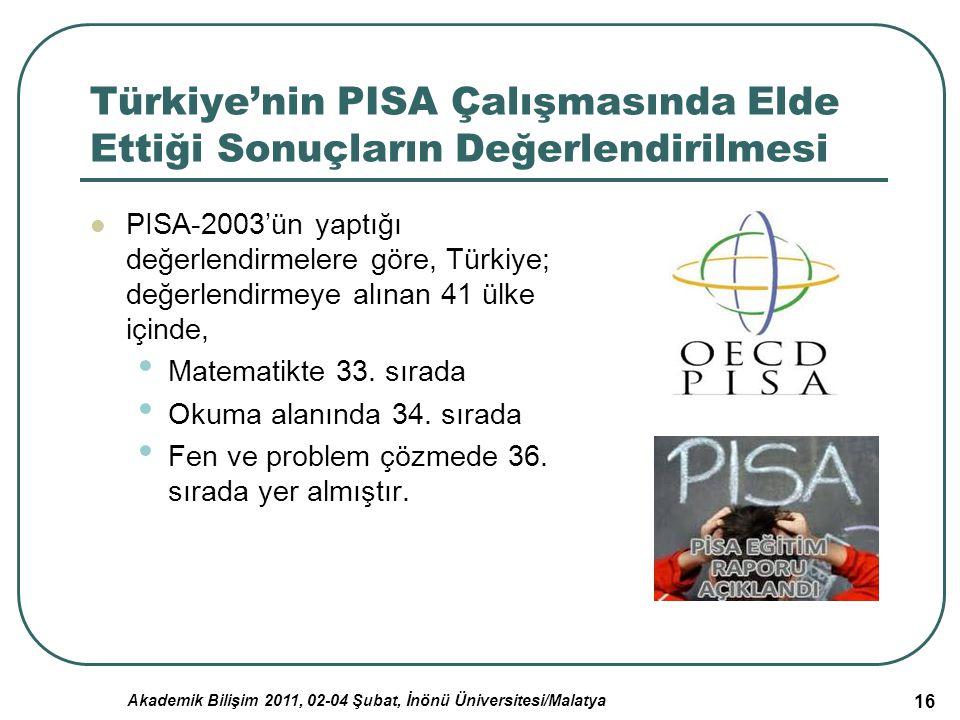 Türkiye'nin PISA Çalışmasında Elde Ettiği Sonuçların Değerlendirilmesi