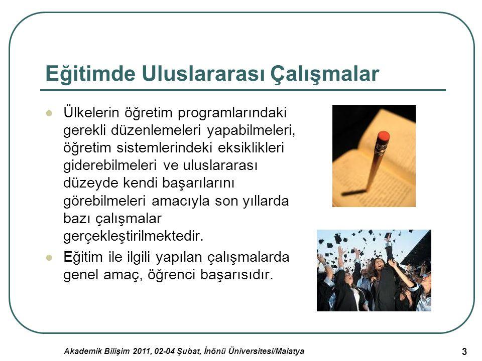 Eğitimde Uluslararası Çalışmalar