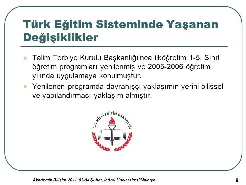 Türk Eğitim Sisteminde Yaşanan Değişiklikler