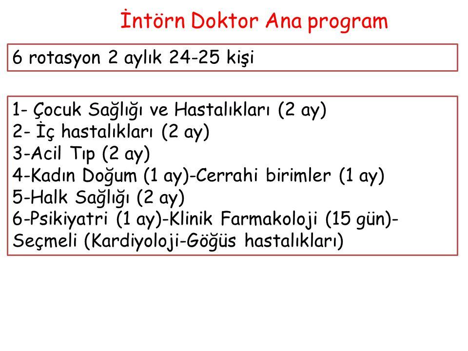 İntörn Doktor Ana program