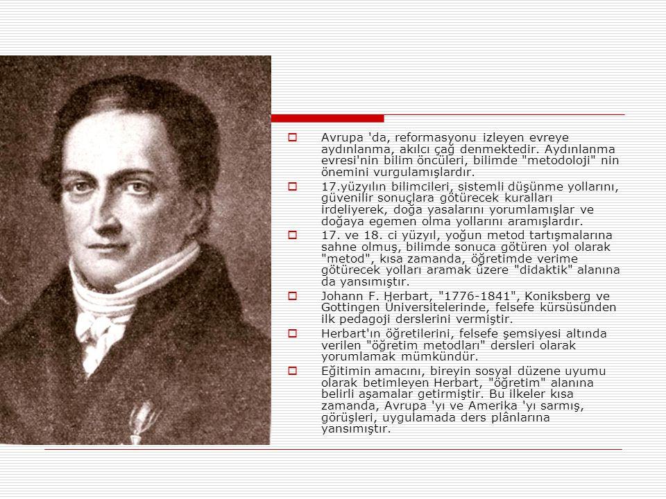 Avrupa da, reformasyonu izleyen evreye aydınlanma, akılcı çağ denmektedir. Aydınlanma evresi nin bilim öncüleri, bilimde metodoloji nin önemini vurgulamışlardır.