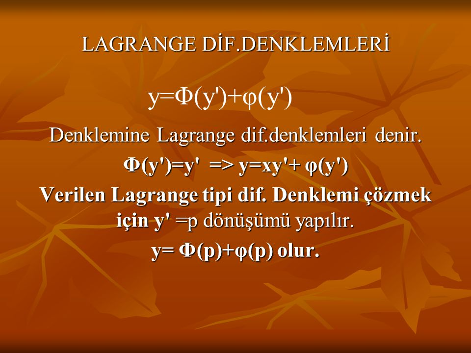 Φ(y )=y => y=xy + φ(y )