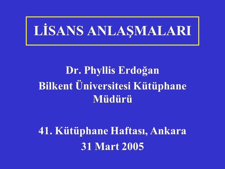 Bilkent Üniversitesi Kütüphane Müdürü 41. Kütüphane Haftası, Ankara